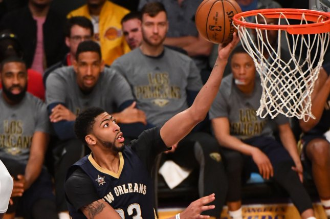 Anthony Davis and the New Orleans Pelicans face the Brooklyn Nets on Friday. Photo by Jon SooHoo/UPI