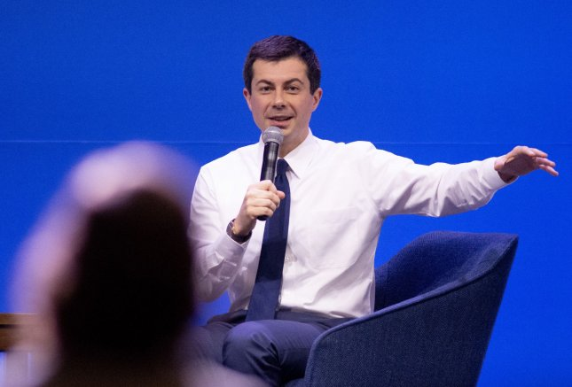 South Bend, Ind., Mayor Pete Buttigieg unveiled a series of policy proposals seeking to empower Latino communities by creating paths to citizenship for undocumented people and investing in Latino-owned businesses among others. Photo by Archie Carpenter/UPI