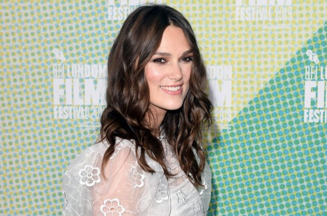 Silent Night star Keira Knightley attends the premiere of Official Secrets at the 63rd BFI London Film Festival in October 2019. AMC+ has acquired Silent Night. File Photo by Rune Hellestad/UPI