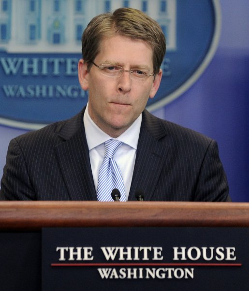 White House spokesmay Jay Carney said Tuesday defeating the Taliban is not part of the end game in Afghanistan. UPI/Roger L. Wollenberg