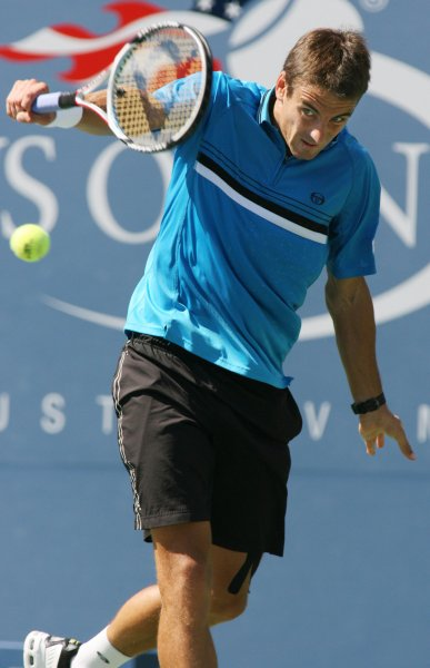 Tommy Robredo, shown during the 2008 U.S. Open, was a first-round winner Tuesday at the China Open in Beijing. (UPI Photo/Monika Graff)