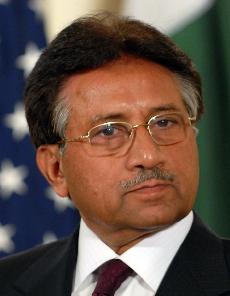 Pakistan President Gen. Pervez Musharraf speaks to reporters in the East Room of the White House on September 22, 2006. U.S. President George W. Bush and Musharraf met earlier in the Oval Office to discuss terrorism and other matters. (UPI Photo/Roger L. Wollenberg)