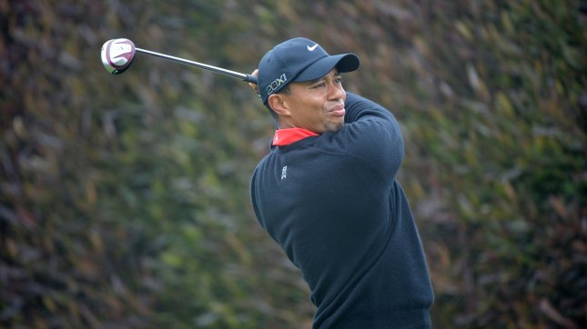 Tiger Woods tees of on the first hole in the fourth round of the U.S. Open at the Olympic Club in San Francisco on June 17, 2012. UPI/Kevin Dietsch