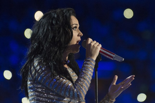 Katy Perry sings during Day four of the Democratic National Convention at Wells Fargo Center in Philadelphia, Pa. on July 28, 2016. Perry recently surprised Pulse shooting survivor Tony Marrero while on an episode of the Ellen show. File Photo by Pete Marovich/UPI