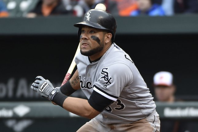 Melky Cabrera and thhe Chicago White Sox rallied for a victory Friday. Photo by David Tulis/UPI
