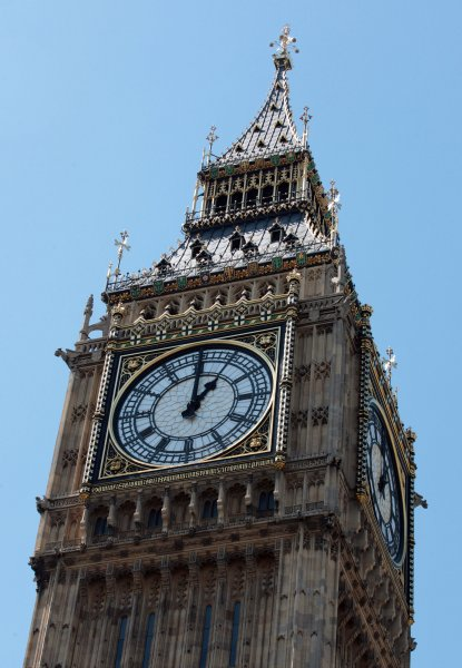 On May 31, 1859, construction concluded and bells rang out for the first time from London's Big Ben clock tower. File Photo by Hugo Philpott/UPI