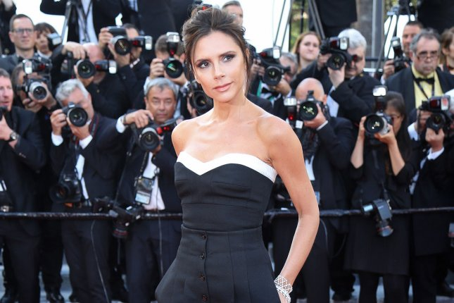 Victoria Beckham arrives on the red carpet before the screening of Cafe Society at the opening of the 69th annual Cannes International Film Festival on May 11. Beckham is set to recieve the OBE from the queen. File Photo by David Silpa/UPI