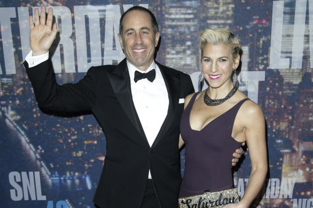 Jerry and Jessica Seinfeld arrive on the red carpet at the SNL 40th Anniversary Special on February 15, 2015. Seinfeld has been named the highest paid comedian for 2017 by Forbes. Chris Rock and Louis C.K. also made the list. File Photo by John Angelillo/UPI