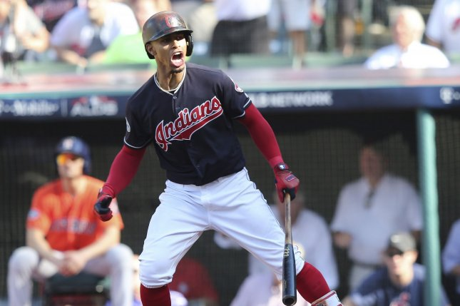 Cleveland Indians shortstop Francisco Lindor has missed the first 18 games of the regular season with calf and ankle issues. He has been activated off the 10-day injured list, and the team has designated DH Hanley Ramirez for assignment. File Photo by Aaron Josefczyk/UPI