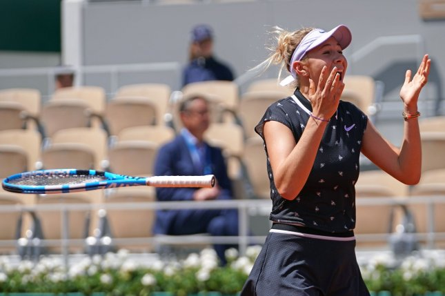 American Amanda Anisimova was born in Freehold Township, N.J. on Aug. 31, 2001, but now lives in Aventura, Fla., near Miami. She is playing in her the first Grand Slam semifinal of her career at the 2019 French Open on Friday in Paris. Photo by David Silpa/UPI