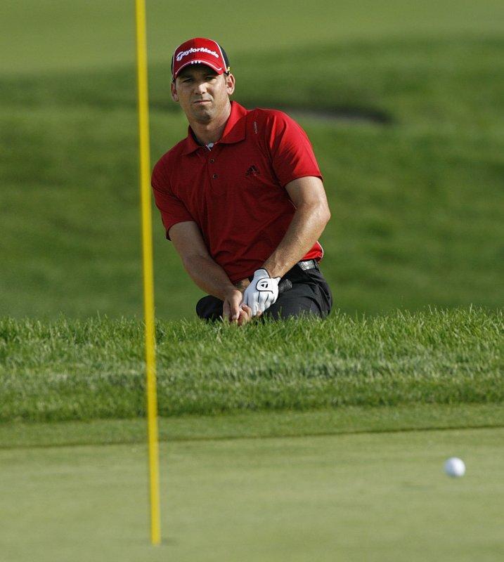 Sergio Garcia of Spain, shown at the PGA Championship in Minnesota Aug. 13, 2009. UPI/Brian Kersey