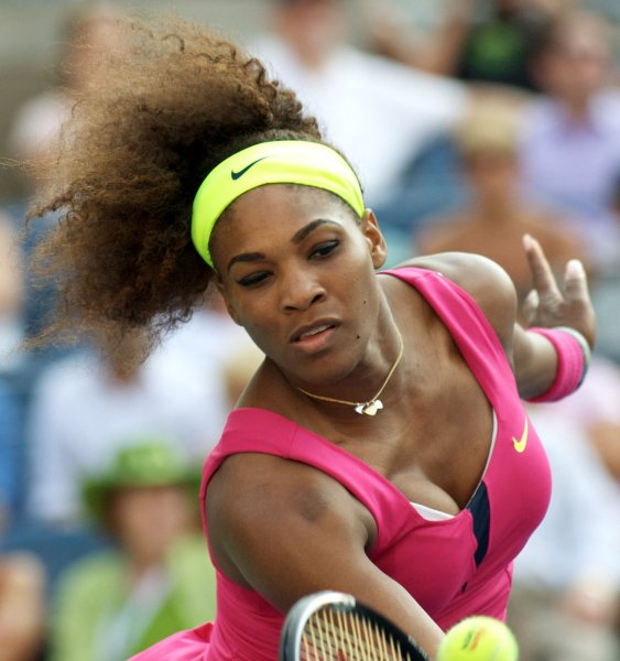 Serena Williams, shown at last year's U.S. Open, picked up the 50th WTA title of her career Sunday with a 6-1, 6-4 win over Maria Sharapova at the Mutua Madrid Open. UPI Photo/Monika Graff