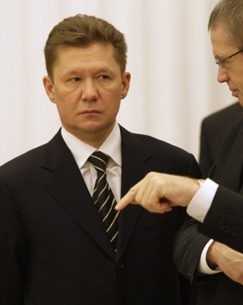Alexey Miller, Chief Executive of Russian state controlled company Gazprom, arrives at an international meeting on the European gas crisis in Moscow on January 17, 2009. The conference at the Kremlin failed to bring an agreement to restore supplies of Russian natural gas via Ukraine. (UPI Photo/Anatoli Zhdanov)