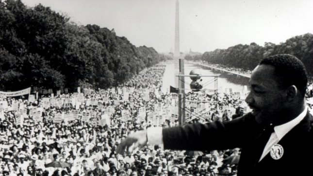 The Rev. Martin Luther King Jr. delivers his famed I Have Dream speech from the steps of the Lincoln Memorial, August 28, 1963. The speech galvanized the nation's civil rights movements and led to the passage of the 1964 Civil Rights Act, the 1965 Voting Rights Act and the 1968 Fair Housing Act. cc/sp/files UPI