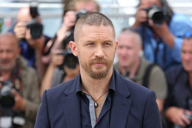 Tom Hardy arrives at a photo call for the film Mad Max : Fury Road during the 68th annual Cannes International Film Festival in Cannes, France on May 14, 2015. File Photo by David Silpa/UPI