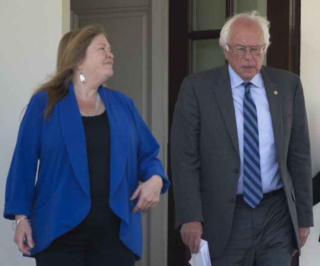 Sen. Bernie Sanders, I-Vt., and his wife, Jane Sanders, hired lawyers amid reports of an FBI investigation into a 2010 bank loan application made by Burlington College. Jane Sanders was president of the college at the time. File Photo by Pat Benic/UPI