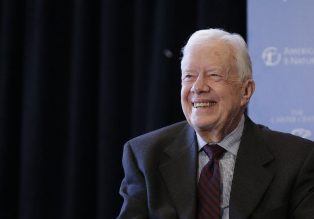 Former President Jimmy Carter has suffered a series of injuries from falls in the past few months. Photo by John Angelillo/UPI
