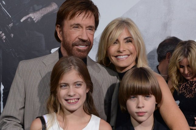 Chuck Norris, a cast member in the action adventure motion picture The Expendables 2, attends the premiere of the film with his wife Gena O'Kelly and their daughter Danilee (L) and Dakota (R) at Grauman's Chinese Theatre in the Hollywood section of Los Angeles on August 15, 2012. UPI/Jim Ruymen