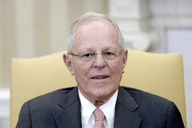 Peru's President Pedro Pablo Kuczynski was called a dog by Venezuela's Foreign Minister Delcy Rodríguez after Kuczynski made a trip to Washington, D.C., in which he said Latin America is like a nice dog to the United States though Venezuela was a problem. Pool photo by Olivier Douliery/UPI