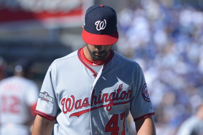The Baltimore Orioles got to Washington Nationals starter Gio Gonzalez early. Gonzalez (3-1) allowed six runs on seven hits with two strikeouts and four walks over six innings. File photo by Jim Ruymen/UPI