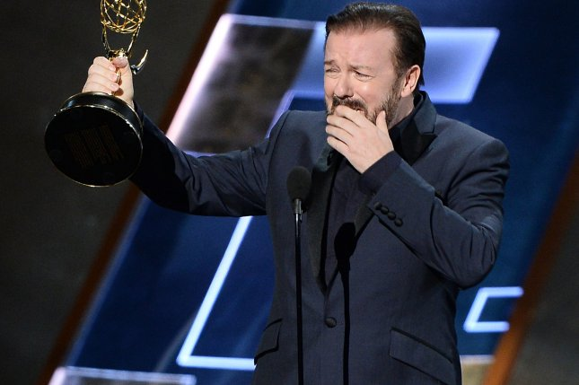 Ricky Gervais is to headline a Netflix comedy special on March 13. File Photo by Ken Matsui/UPI.