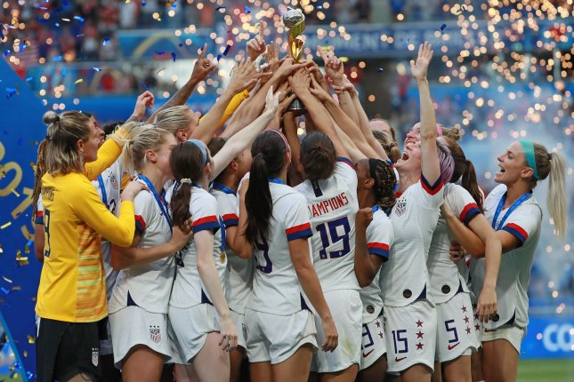 The United States Women's National Team won the 2019 FIFA Women's World Cup in July. File Photo by David Silpa/UPI