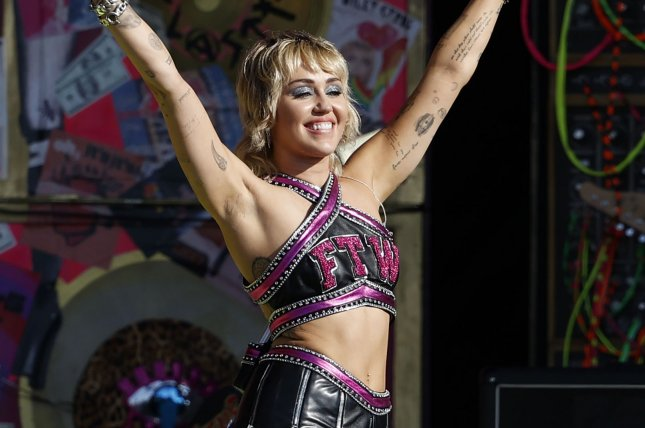Miley Cyrus will perform at Austin City Limits music festival in October. File Photo by John Angelillo/UPI