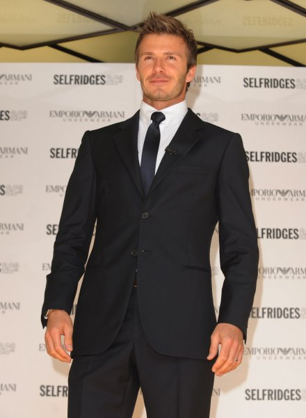 David Beckham, a self proclaimed metro-sexual, unveils the new Emporio Armani Underwear Campaign at Selfridges in London on June 11, 2009. (UPI Photo/Rune Hellestad)