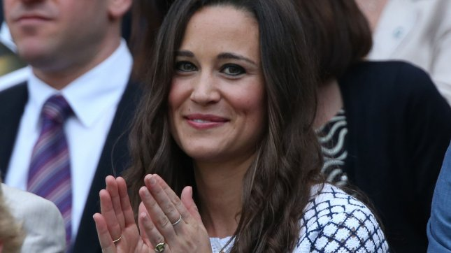 Pippa Middleton enjoys the tennis in the Royal box on the fourth day of the 2012 Wimbledon championships in London, June 28, 2012. UPI/Hugo Philpott