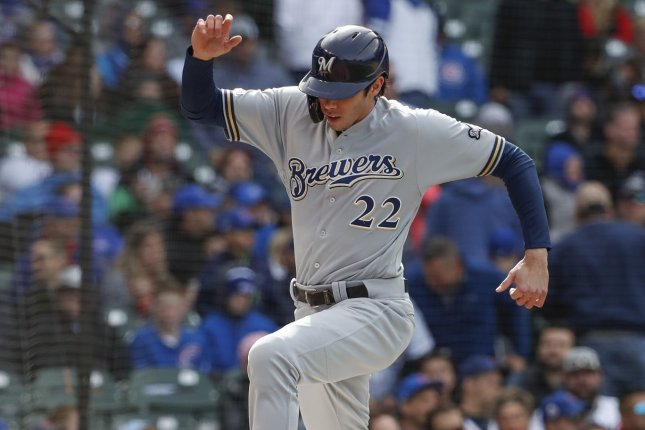 Milwaukee Brewers outfielder Christian Yelich made his first All-Star team and was the National League MVP in 2018 after hitting a career-best .326 with 36 homers and 110 RBIs in 147 games during his first season with the franchise. File Photo by Kamil Krzaczynski/UPI