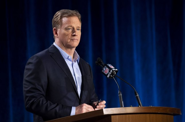 In a statement released Sunday, NFL commissioner Roger Goodell said he was pleased that players from around the league agreed to the new collective bargaining agreement, which will run through at least 2030. File Photo by Kevin Dietsch/UPI