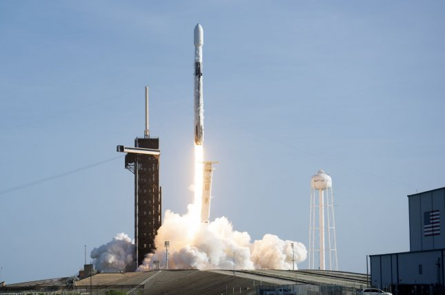 SpaceX was scheduled to send 60 Starlink satellites into orbit Wednesday aboard a Falcon 9 rocket, it's fourth such launch since early September. The launch was rescheduled for Thursday due to inclement weather. File Photo by Joe Marino/UPI