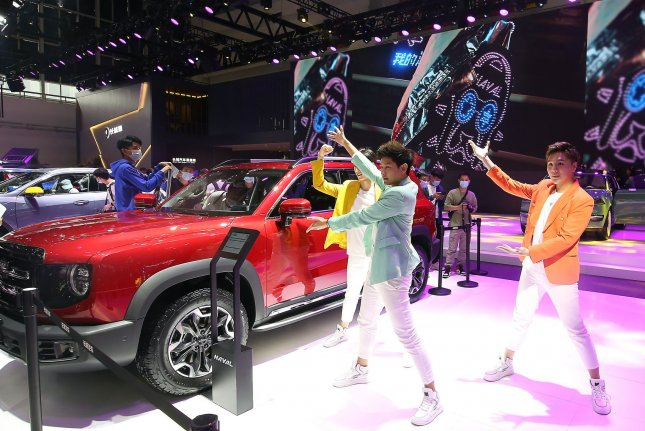 The China Association of Automobile Manufacturers said Monday that China will surpass 2 million electric vehicles in sales this year, according to a South Korean press report. File Photo by Stephen Shaver/UPI