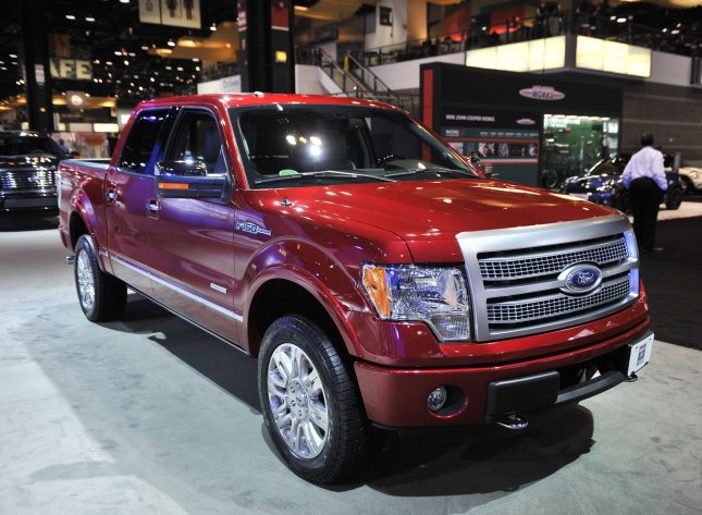 The Ford F-150 Platinum is shown during the Chicago Auto Show at McCormick Place on February 9, 2012 in Chicago. UPI/Brian Kersey