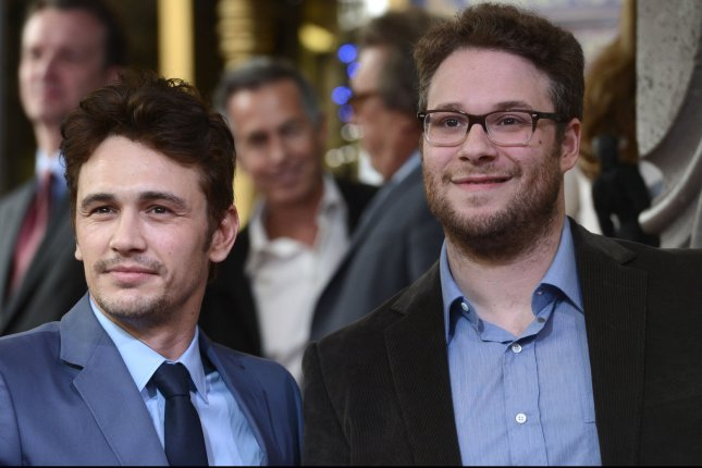 Actors James Franco (L) and Seth Rogen. UPI/Phil McCarten