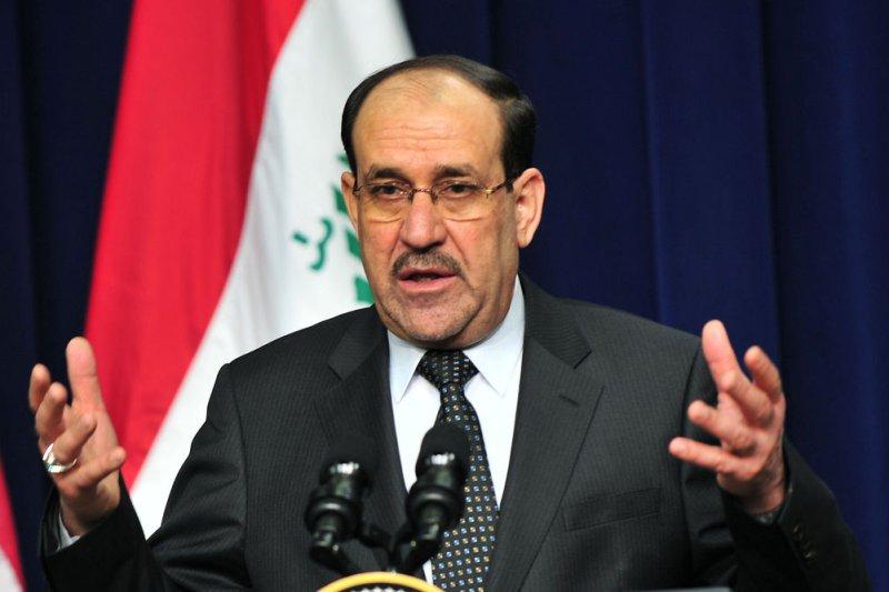 Iraqi Prime Minister Nouri al-Maliki speaks on December 12, 2011. (UPI/Kevin Dietsch)