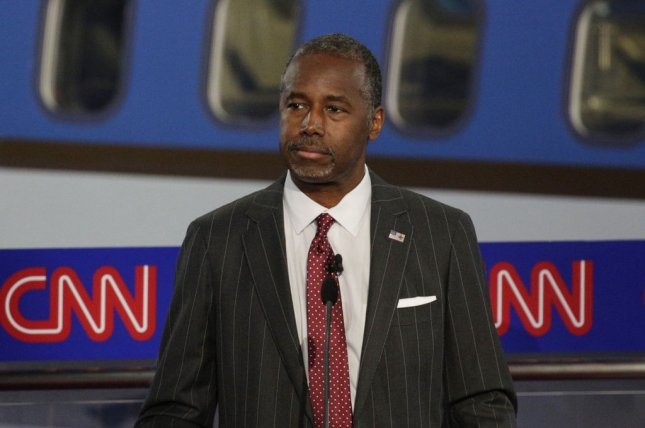 Ben Carson's presidential campaign admitted on Friday that he lied about his application and acceptance into the U.S. Military Academy at West Point. West Point has no record of Carson applying or being admitted. File photo by Max Whittaker/UPI/Pool