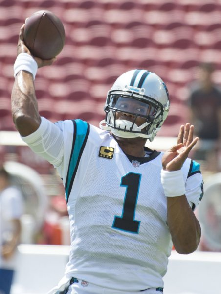 Cam Newton and the Carolina Panthers will look to get the offense cooking against the New England Patriots. Photo by Terry Schmitt/UPI