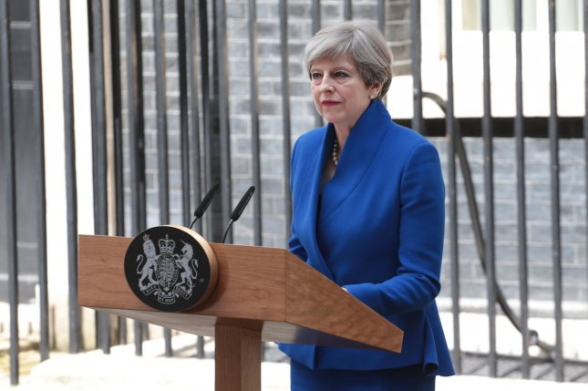 British intelligence agency MI5 said Tuesday it foiled an Islamist plot to assassinate Prime Minister Theresa May by bombing 10 Downing Street in a suicide attack. File Photo by Hugo Philpott/UPI