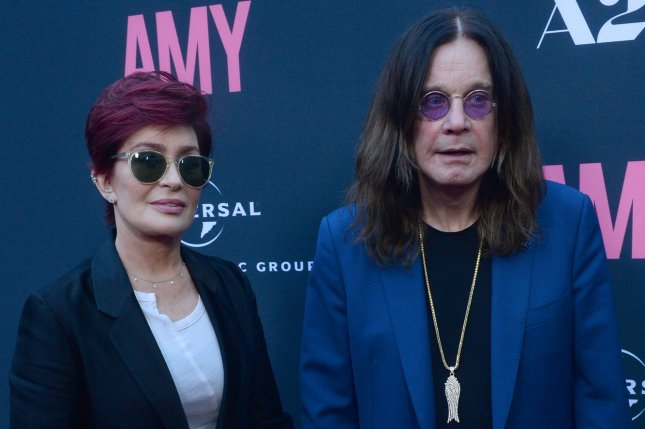 Sharon Osbourne (L), pictured with Ozzy Osbourne, confirmed the singer was admitted to the hospital. File Photo by Jim Ruymen/UPI
