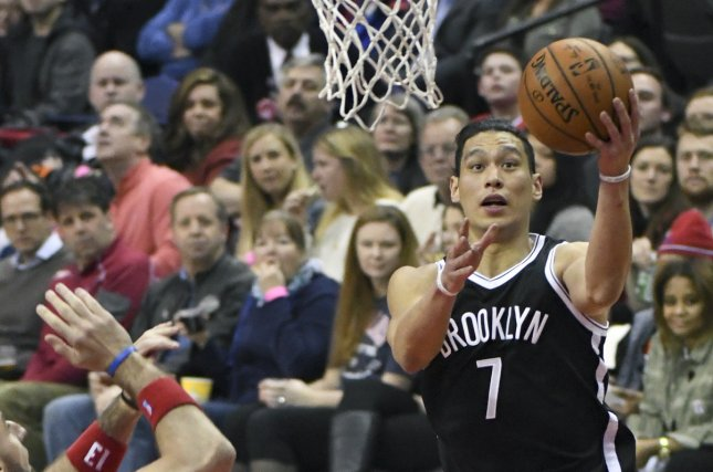 Jeremy Lin (7) averaged 7.0 points per game and won his first NBA championship last season with the Toronto Raptors. File Photo by Mark Goldman/UPI
