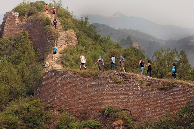 Beijing said Monday areas of the Great Wall of China built during the Ming dynasty extended as far northeast as the Korean Peninsula. File Photo by Stephen Shaver/UPI