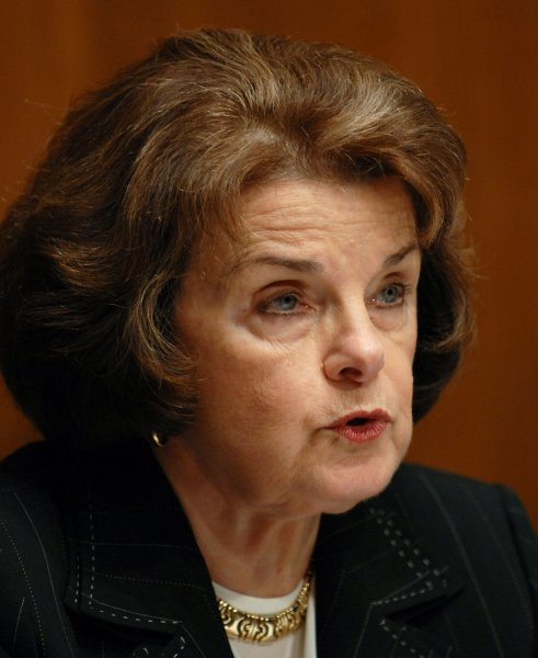 File photo of Sen. Dianne Feinstein dated December 11, 2007. (UPI Photo/Roger L. Wollenberg)