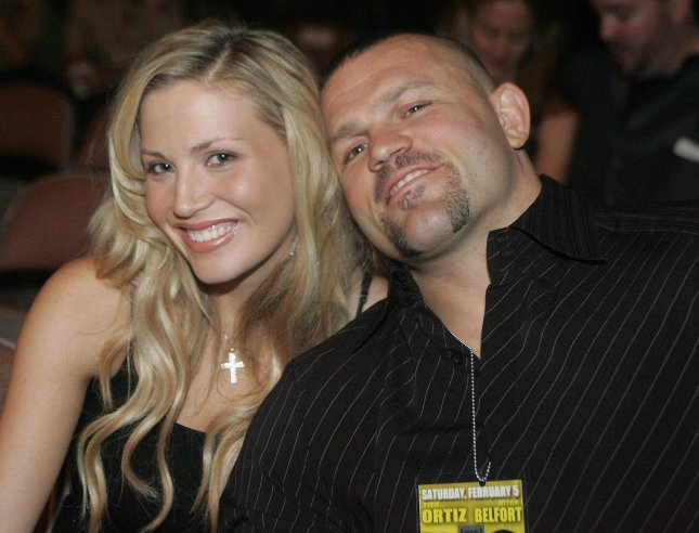UFC champion Chuck Liddell and pop singer Willa Ford wait to go to the Ultimate Fighting Championship fights at Mandalay Bay, February 5, 2005...(UPI Photo/Roger Williams)