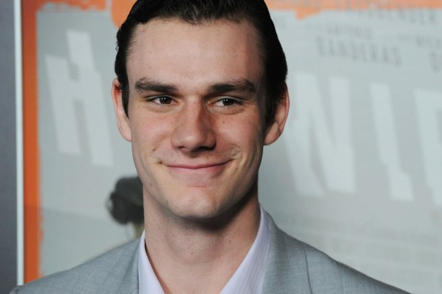 Hugh Hefner's son and Playboy heir Cooper Hefner attends the premiere of the motion picture thriller Haywire, at the Directors Guild of America in Los Angeles on January 5, 2012. The now 23-year-old is engaged to British actress Scarlett Bryne, 24. Photo by Jim Ruymen/UPI