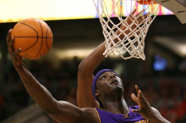 Los Angeles Lakers center Kwame Brown. File photo by Art Foxall/UPI