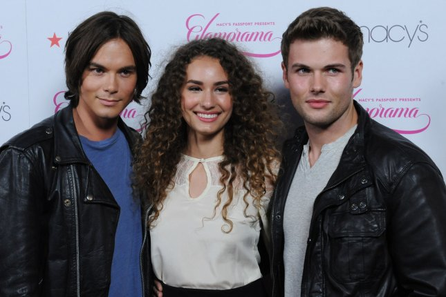 Rachel DiPillo (C), pictured with Tyler Blackburn (L) and David Cade, exited Chicago Med during the Season 4 premiere. File Photo by Jim Ruymen/UPI