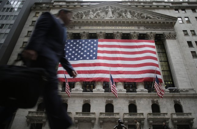 U.S. markets rose on Monday as positive expectations for a trade deal between the U.S. and China provided traders with optimism at the start of a new quarter. Photo by John Angelillo/UPI