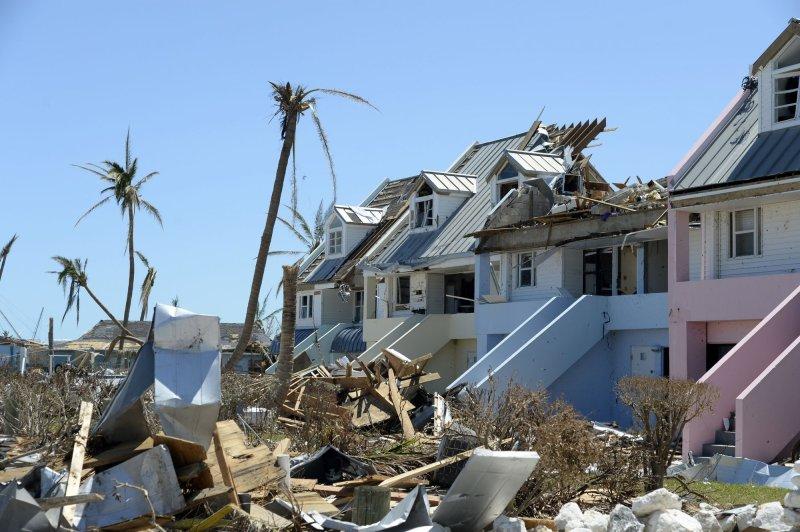 Damage to homes and property from Hurricane Dorian is seen at Treasure Cay in the Bahamas on Sept. 9, 2019. File Photo by Joe Marino/UPI