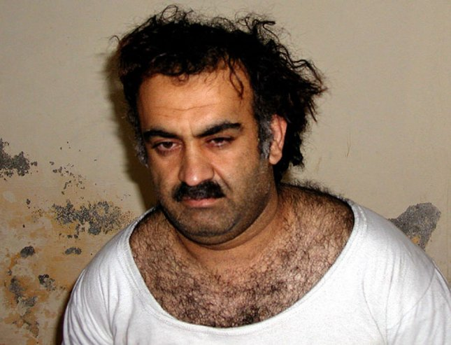 Khalid Shaikh Mohammed, the alleged Sept. 11 mastermind seen here shortly after his capture in 2001, told a U.S. military court on June 5, 2008 in Guantanamo Bay, that he wishes for the death penalty so that he can become a martyr. Mohammed and four accused co-conspirators appeared in court at the Guantanamo Bay U.S. naval base in Cuba for the first time on charges that could result in their execution. (UPI Photo/Handout)